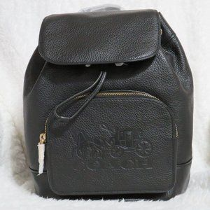 Coach Leather Jes Backpack (Black)